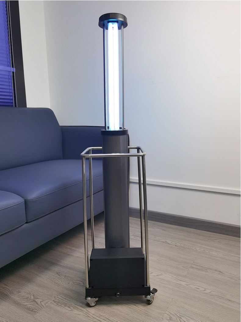 100W lithium battery intelligent smart UV disinfection trolley