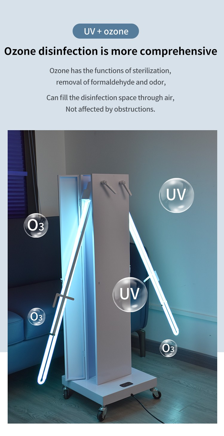 Two-way opening and closing high-power ultraviolet disinfection vehicle